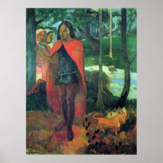 Mago del Hiva-Oa de Eugène Enrique Paul Gauguin Póster