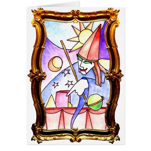 Mago del oro tarjeta de felicitación