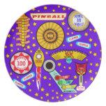 Mago del pinball en violeta platos de comidas