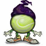 Mago del tenis esculturas fotograficas