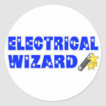 Mago eléctrico etiqueta
