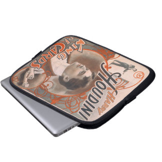Mago Harry Houdini el rey Of Cards Funda Para Portátil