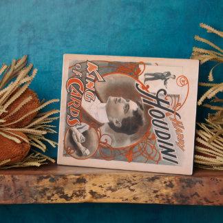 Mago Harry Houdini el rey Of Cards Placas De Madera
