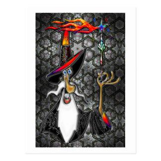 Mago místico del mago del fuego tarjeta postal