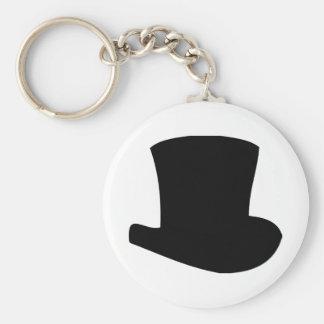 mago negro del circo del sombrero de copa llavero