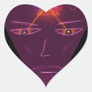 Mago Pegatina En Forma De Corazón