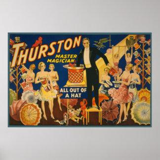 Mago principal todo de Thurston fuera de un gorra Poster