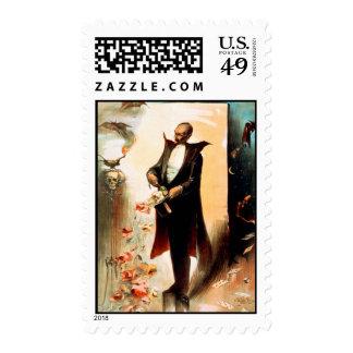 Mago que saca de rosas el sombrero de copa, c.1892 sellos