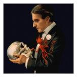 Mago Thurston del vintage que sostiene un cráneo h Comunicado Personal