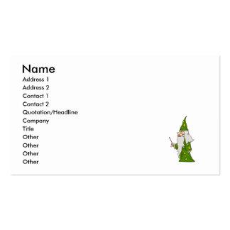 Mago verde plantillas de tarjetas personales