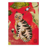 Magpie and Tiger: Korean Folk Art Greeting Card