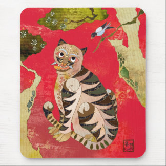 Magpie and Tiger: Korean Folk Art Mouse Pad