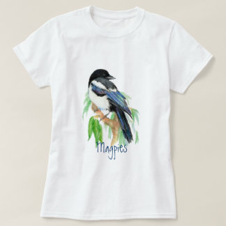 Magpie, Bird, Garden, Nature, Wildlife T-Shirt