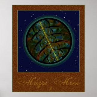 Magpie Crow Moon Print