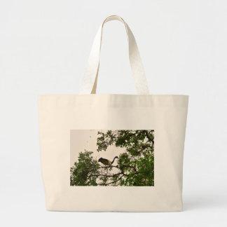 MAGPIE GEESE IN TREE QUEENSLAND AUSTRALIA LARGE TOTE BAG