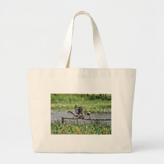 MAGPIE GEESE QUEENSLAND AUSTRALIA ART EFFECTS LARGE TOTE BAG