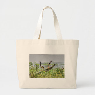 MAGPIE GEESE RURAL AUSTRALIA ART EFFECTS LARGE TOTE BAG