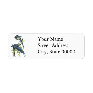 Magpie Jay John Audubon Return Address Labels