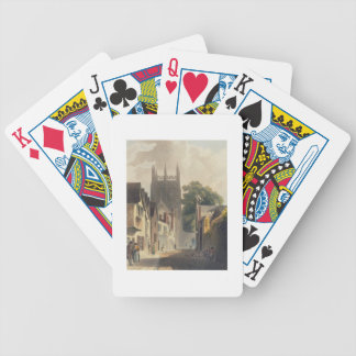 Magpie Lane, Oxford, illustration from the 'Histor Bicycle Playing Cards
