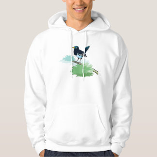 Magpie On A Branch Hoodie