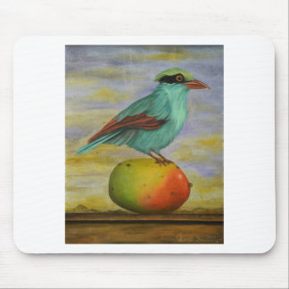 Magpie On A Mango Mouse Pad