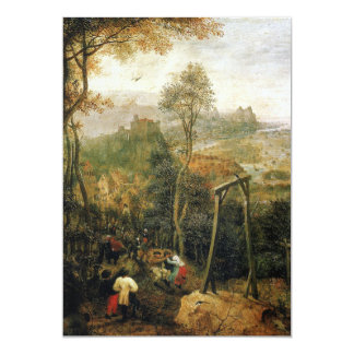 Magpie on the Gallows by Pieter Bruegel Card