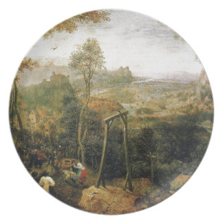 Magpie on the Gallows by Pieter Bruegel Dinner Plate