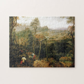 Magpie on the Gallows by Pieter Bruegel Jigsaw Puzzle