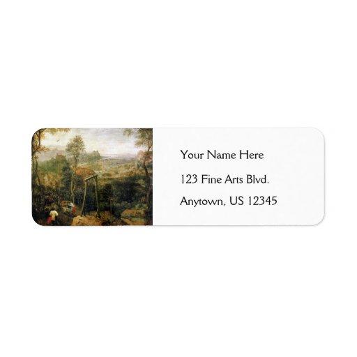 Magpie on the Gallows by Pieter Bruegel Return Address Label
