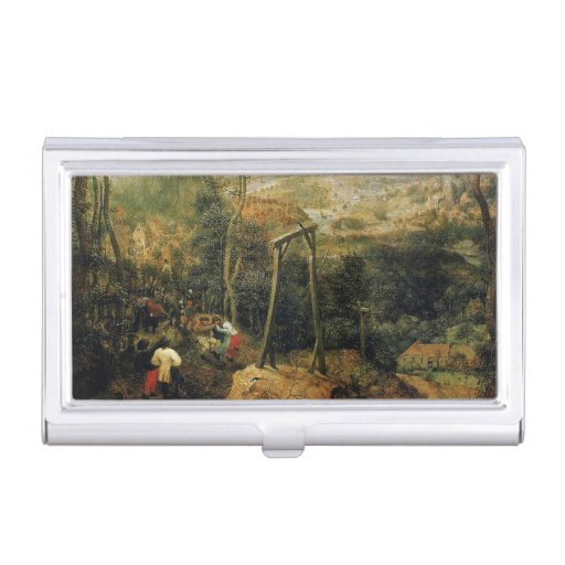 Magpie on the Gallows by Pieter Bruegel Business Card Case
