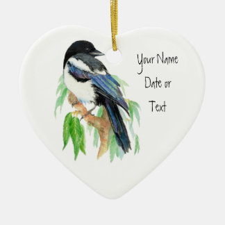 Magpie, Ornament to Customize, Bird, Nature