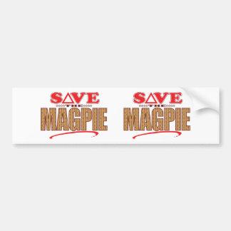 Magpie Save Bumper Sticker