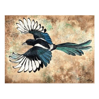 Magpie Watercolor Post Cards