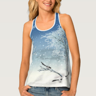 Magpie Winter Women's All-Over Print Tank Top