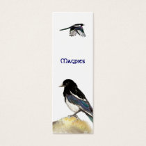 Magpies BookMark for Bird Fans