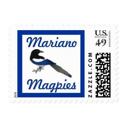 Magpies School Mascot postage stamp