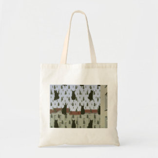 Magritte's Cats Budget Tote Canvas Bag