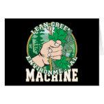 Magro, máquina ambiental del verde felicitación