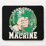 Magro, máquina ambiental del verde tapete de ratón