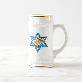 Maguen David Torah Beer Stein