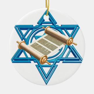 Maguen David Torah Ceramic Ornament