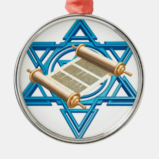 Maguen David Torah Metal Ornament