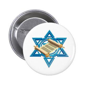 Maguen David Torah Pin Redondo De 2 Pulgadas