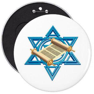 Maguen David Torah Pin Redondo De 6 Pulgadas