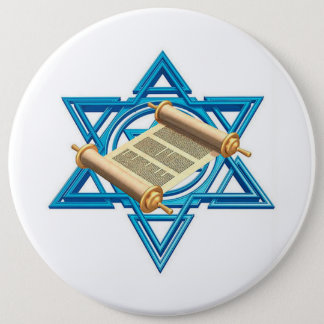 Maguen David Torah Pinback Button