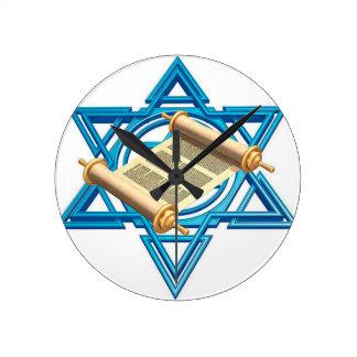 Maguen David Torah Round Clock