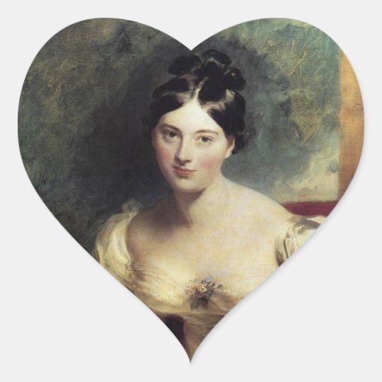 Maguerite Countess of Blessington Heart Sticker