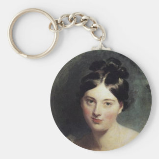 Maguerite Countess of Blessington Basic Round Button Keychain
