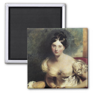Maguerite Countess of Blessington 2 Inch Square Magnet