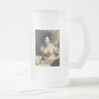 Maguerite Countess of Blessington 16 Oz Frosted Glass Beer Mug